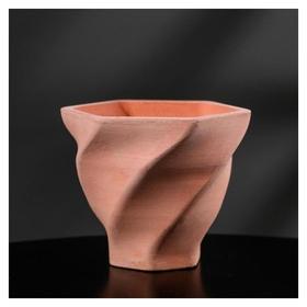 Кашпо винтовое розовое из бетона «Феерия», 10,5 х 9 см  Дарите счастье