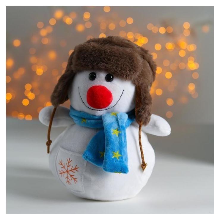 Мягкая игрушка «Снеговик», в ушанке NNB