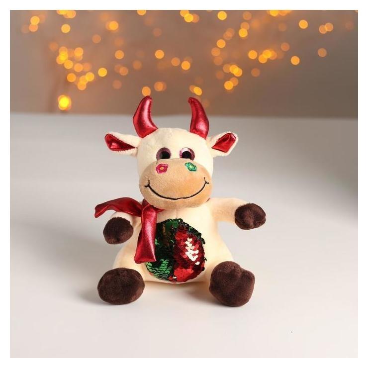 Мягкая игрушка «Бычок», красные рога NNB