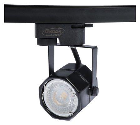 Трековый светильник Luazon Lighting под лампу Gu10, восемь граней, корпус черный  LuazON