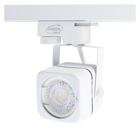 Трековый светильник Luazon Lighting под лампу Gu10, квадратный, корпус белый LuazON