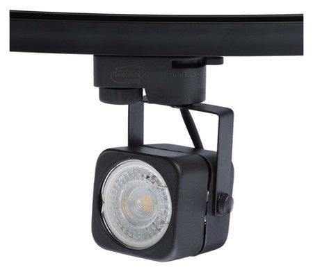 Трековый светильник Luazon Lighting под лампу Gu10, квадратный, корпус черный  LuazON