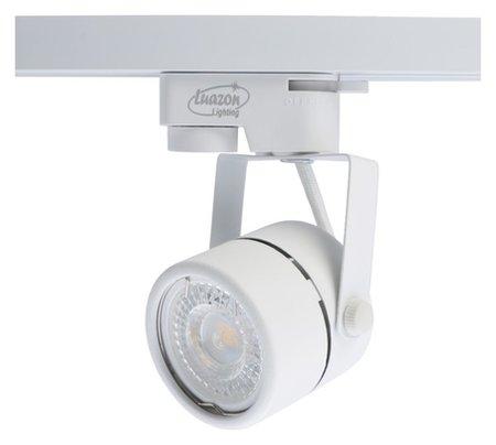 Трековый светильник Luazon Lighting под лампу Gu10, круглый, корпус белый LuazON