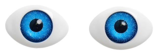 Глаза, набор 8 шт., размер радужки 12 мм, цвет голубой NNB