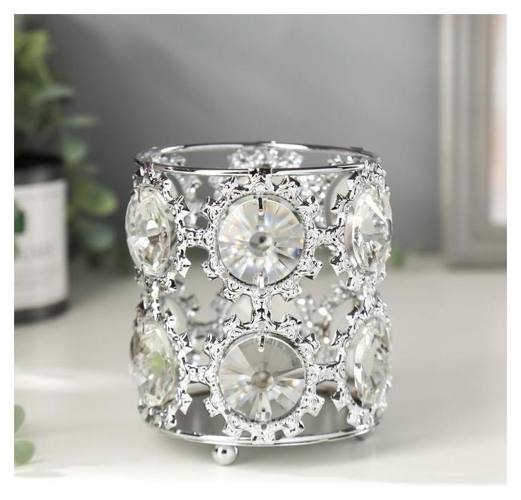 Подсвечник на 1 свечу Снежинки 10,5х9х9 см NNB