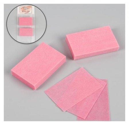 Салфетки для маникюра, безворсовые, 50 шт, цвет розовый  Queen Fair
