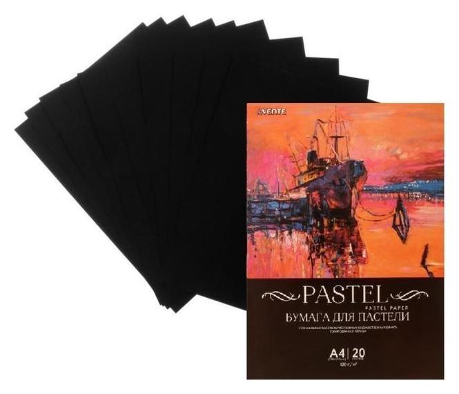 Бумага для пастели набор, А4, Devente, 20 листов, 120 г/м², чёрная, в пакете  deVente