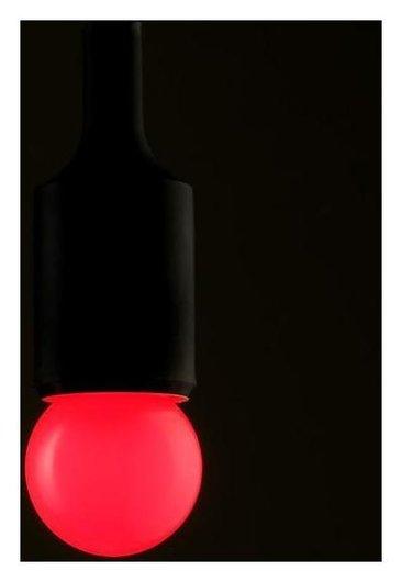 Лампа светодиодная декоративная Luazon Lighting, G45, е27, 1,5 Вт, для белт-лайта, красный LuazON