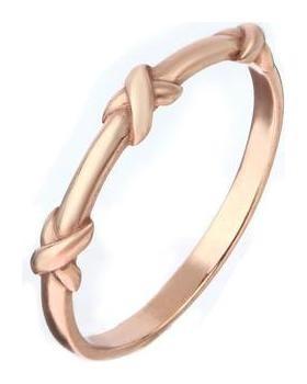 Кольцо Узелок позолота, размер 17 Алмаз-холдинг