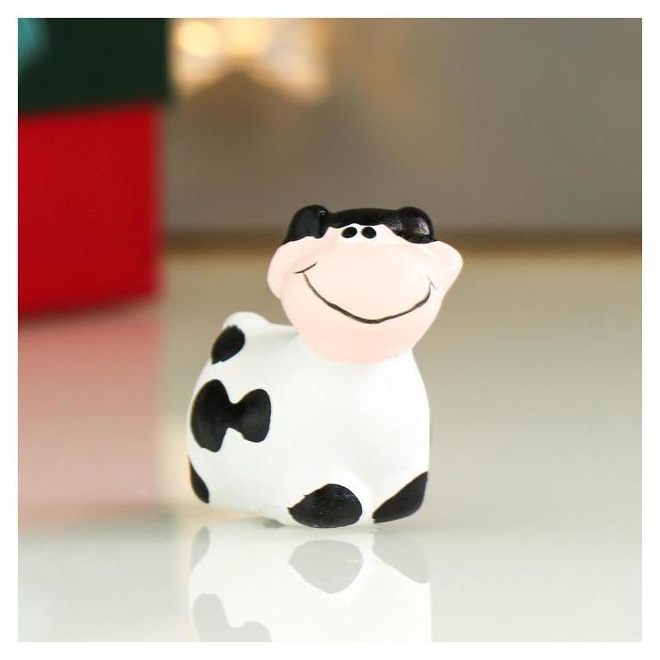 Сувенир керамика Коровка улыбка 3,2х4,7х4,5 см NNB