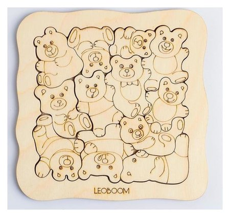 Пазл-раскраска «Мишки - малышки» Smile Decor