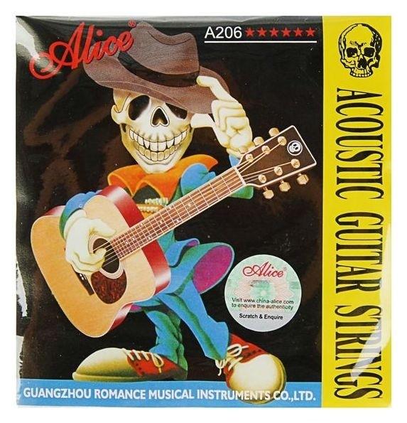 Комплект струн для акустической гитары Alice A206-l Light, фосфорная бронза, 12-53  Alice