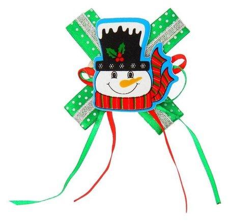 Карнавальный зажим «Снеговик», с бантиком, виды  NNB