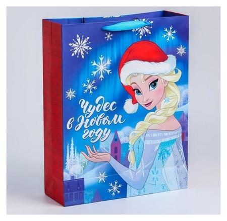 """Пакет ламинат вертикальный """"С новым годом!"""", 31х40х11 см, холодное сердце  Disney"""