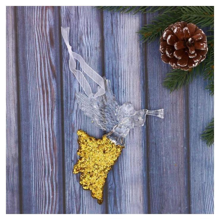 Украшение ёлочное Девушка - ангел 8х11 см золото Зимнее волшебство