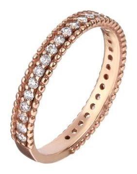Кольцо Дорожка грани, позолота, размер 17 Алмаз-холдинг