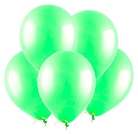 Шар латексный 12, пастель, набор 100 шт., цвет зелёный Веселуха