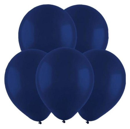 Шар латексный 12, пастель, набор 100 шт., цвет тёмно-синий Веселуха