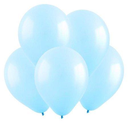 Шар латексный 12, пастель, набор 100 шт., цвет светло-голубой Веселуха