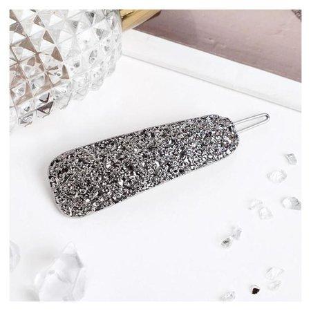 Невидимка для волос Либерти лава 2х7,5 см, серебро Queen fair