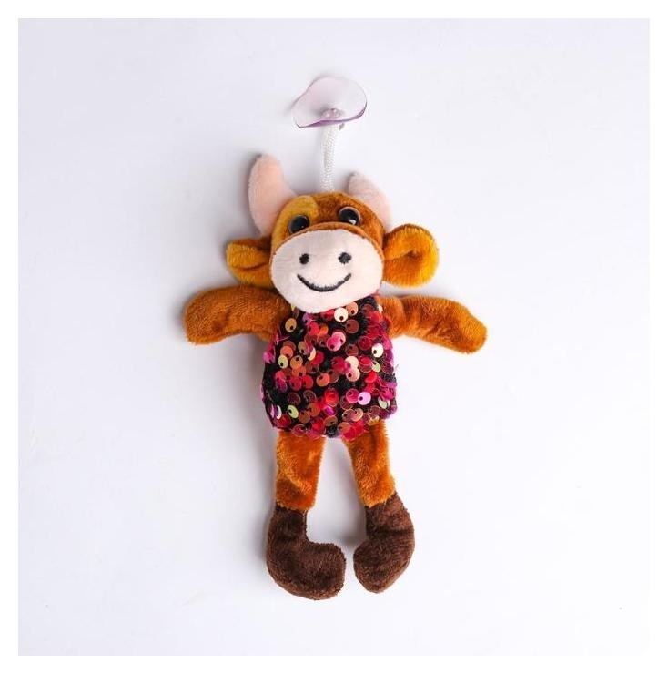 Мягкая игрушка «Коровка с пайетками», на присоске NNB