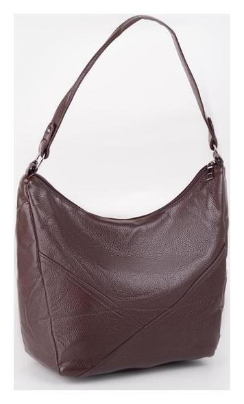 Сумка женская, отдел на молнии, наружный карман, цвет коричневый NNB