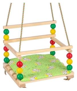 """Подвесное кресло для игровой площадки с мягкой сидушкой, """"Ветерок"""", сиденье 34х28 см  NNB"""