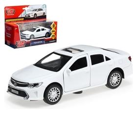 Машина металлическая Toyota Camry, 12 см, открываются двери, инерционная, цвет белый