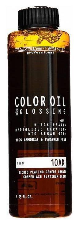 Краситель масляный Color Oil Тон 10AK Платиновый блондин пепельно-медный