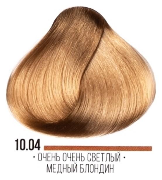 Крем-краска для волос Hair Cream Colourant Тон 10.04 Очень очень светлый медный блондин