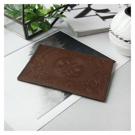 Обложка для паспорта, цвет коричневый  NNB