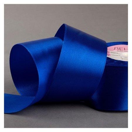 Лента атласная, 50 мм × 23 ± 1 м, цвет синий №40  Арт узор