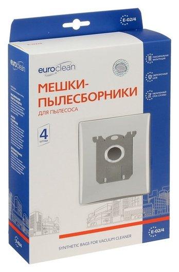 Мешок-пылесборник Euro синтетический, многослойный, 4 шт (Electolux S-bag) Euroclean