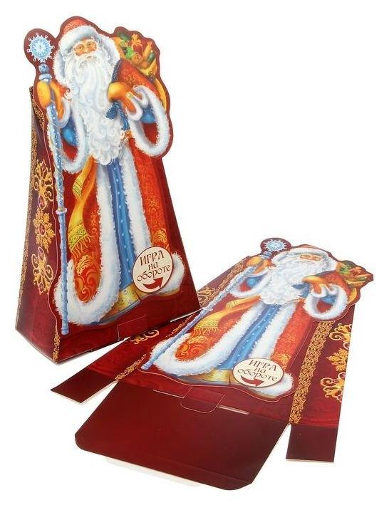 Складная коробка «Подарок от деда мороза», 15.5 × 24 × 8 см, вместимость - 700 гр. Дарите счастье