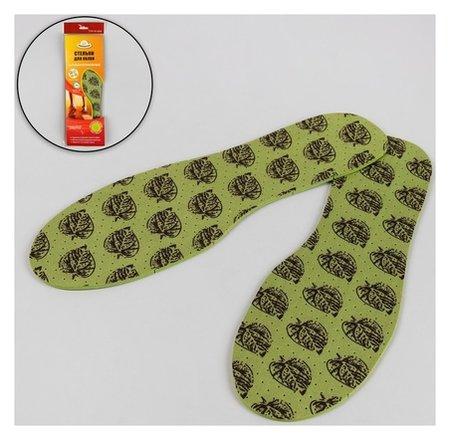 Стельки для обуви, антибактериальные, влаговпитывающие, универсальные, 36-46 р-р, пара, цвет зелёный  Pregrada