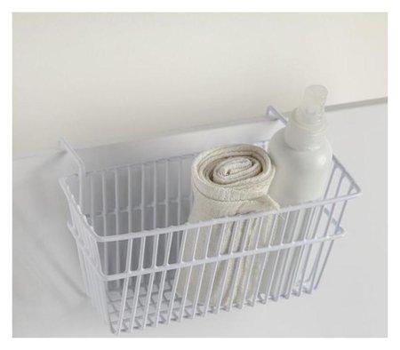Корзина подвесная 20×12×9.5 см, цвет белый  Доляна