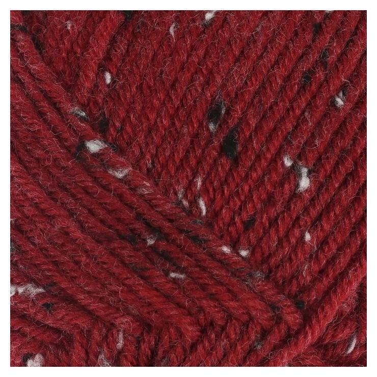 Пряжа Super Inci Hit Tweed 20%шерсть, 75%акрил, 5%вискоза 180м/100гр (1175 т. красн.) Nako