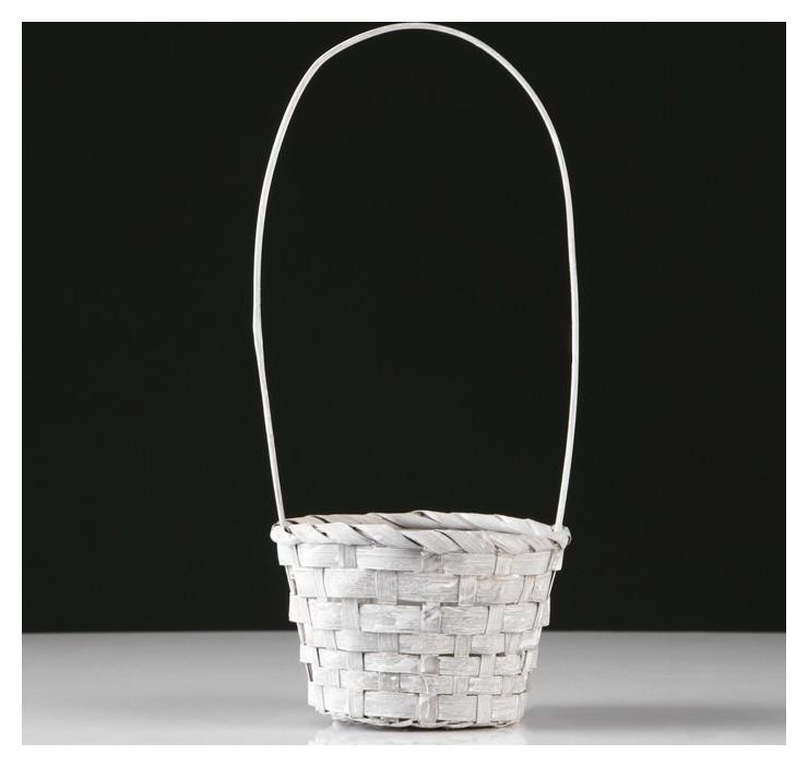 Корзина плетеная, бамбук, D13xh9.5/28 см, серый NNB