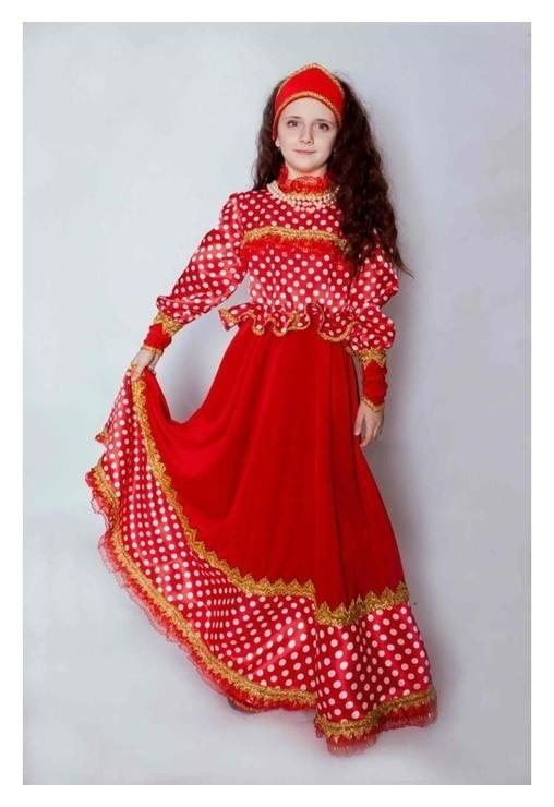 Карнавальный костюм «Любава», платье, головной убор, р. 36, рост 140 см Jeanees