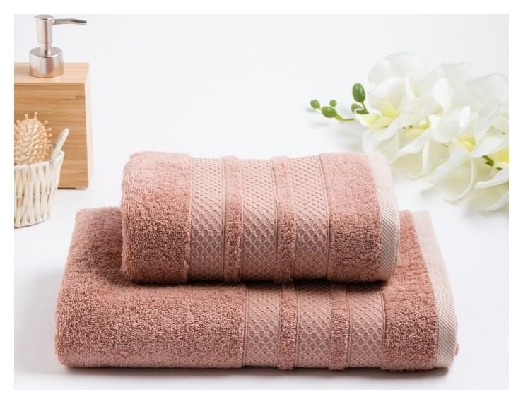 Комплект махровых полотенец в коробке Dogus, 50х90, 70х130 см, цвет пудра  Fiesta