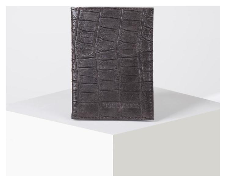 Обложка для автодокументов с вкладышами пвх, цвет коричневый NNB