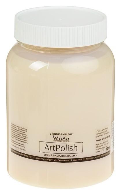 Лак акриловый, водная основа, глянцевый, полиуретановый, 1 литр, Wizzart Polish, 1000 г WizzArt