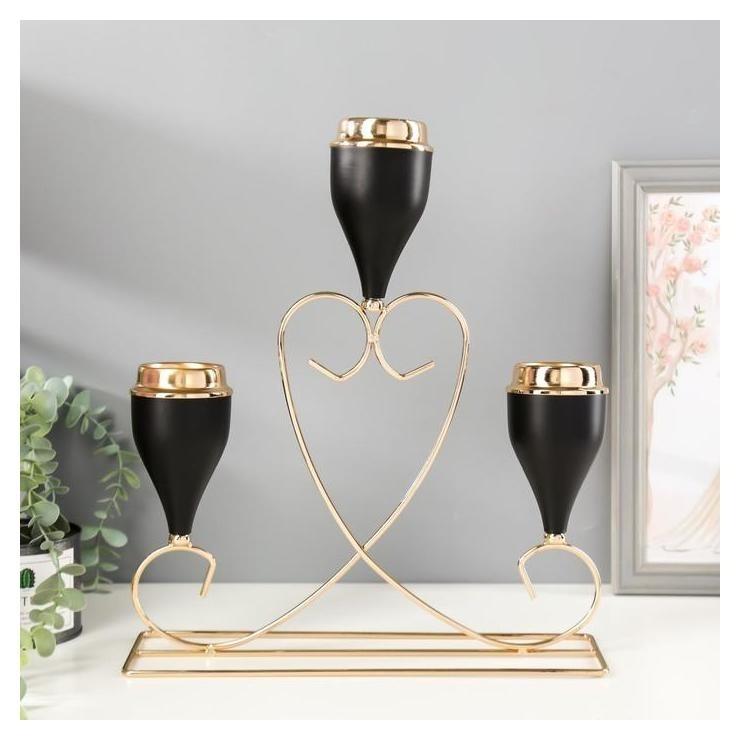 Подсвечник на 3 свечи Сердце 34х39х10,3 см NNB