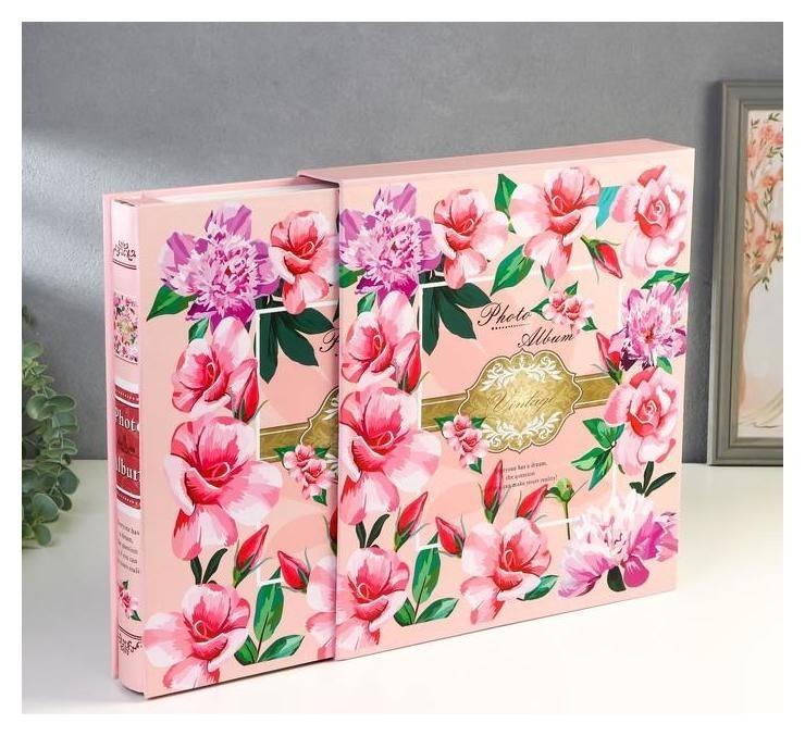 Фотоальбом на 500 фото 10х15 см Калейдоскоп цветов в коробке 33,5х30х6 см NNB
