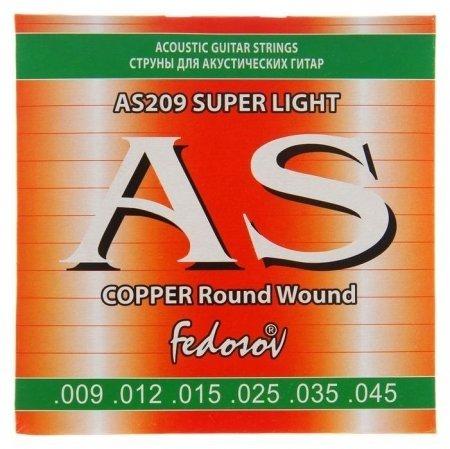 Струны Copper Round Wound Super Light ( .009-.045, 6-стр., медная навивка на граненом керне) 14531  Fedosov
