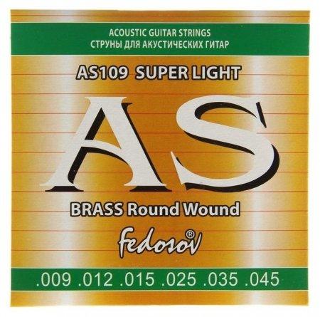 Струны Brass Round Wound Super Light ( .009-.045, 6 стр., латунная навивка на граненом керне) 145 Fedosov