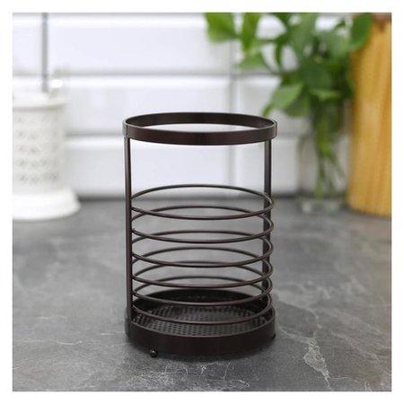 Сушилка для столовых приборов «Лофт», 11,5×11,5×17 см, цвет коричневый  Доляна