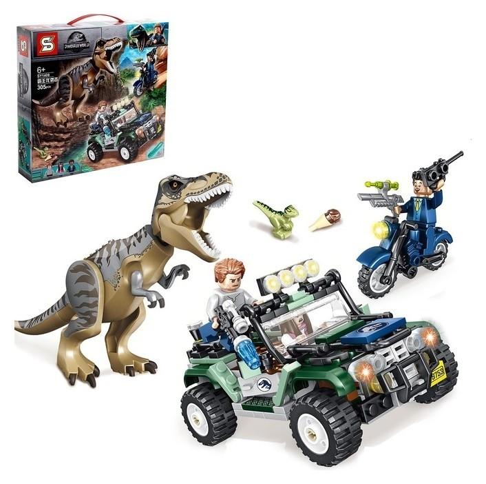 Конструктор Мир динозавров, 305 деталей Sembo block