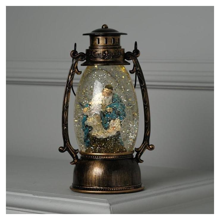 Фигура световая фонарик Рождение христа, 25х10х10 см, от бат. 2*ааа(Не в компл.), т/белый LuazON