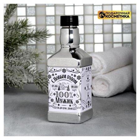 Гель для душа виски С новым годом Silver Чистое счастье